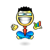 Business yoga smiley Stock Images