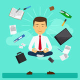 Business yoga vector illustration Royalty Free Stock Photo