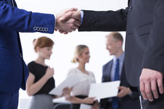 Business with you is a pleasure Stock Photography
