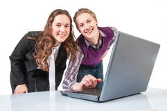 Business young couple working Stock Image