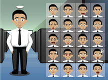 Business Young Man Cartoon Emotion faces Vector Illustration Stock Image