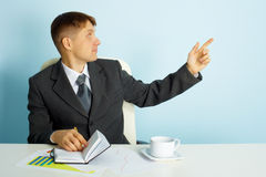 Business young man in the office Royalty Free Stock Image