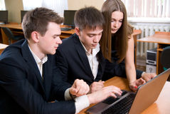 Business young people in a computer class Royalty Free Stock Photography