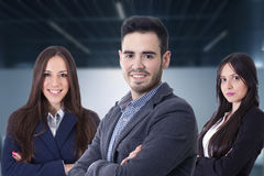 Young team of business stock photo