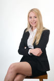 Business young woman sitting Stock Photography