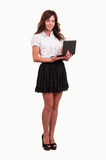 Business young woman working with laptop Stock Photos