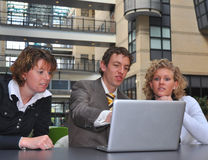 Business youngsters disagree Stock Images