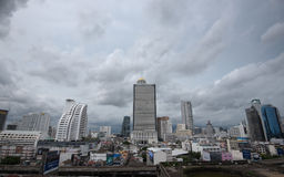 Business zone in Bangkok, Thailand stock images