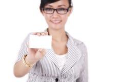 businesscard εμφάνιση επιχειρηματιώ&nu Στοκ Εικόνα