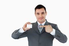 businesscard επιχειρηματίας η υπόδ&epsilon Στοκ εικόνες με δικαίωμα ελεύθερης χρήσης
