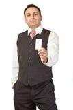 businesscard επιχειρηματίας που δίν Στοκ φωτογραφία με δικαίωμα ελεύθερης χρήσης