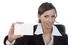 businesscard bizneswoman obrazy stock
