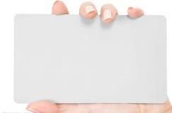 Businesscard a disposizione immagini stock