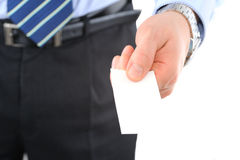 Businesscard exchange Stock Images