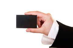 Businesscard in hand Stock Image