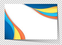Businesscard template with blue and yellow waves Stock Image