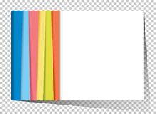 Businesscard template with rainbow in background Stock Photos