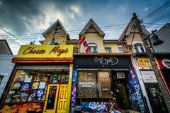 Businesses in Kensington Market, Toronto, Ontario. Stock Image