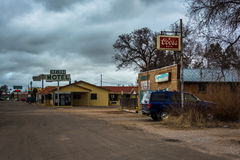 Businesses in Moriarty, New Mexico. Royalty Free Stock Photos