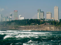 Businesses in niagara falls,canada. View of businesses on canadian side of niagara falls Royalty Free Stock Photography