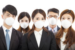 Businesses people wearing a mask to express problems Royalty Free Stock Photos