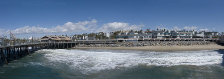 Businesses at Redondo Beach, CA Royalty Free Stock Photo