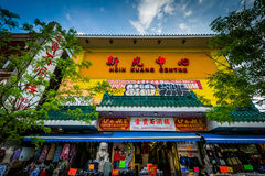 Businesses on Spadina Avenue, in Chinatown, Toronto, Ontario. Royalty Free Stock Photos