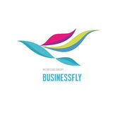 Businessfly - vector logo concept. Bird concept illustration. Vector logo template. Business logo sign. Stock Photo