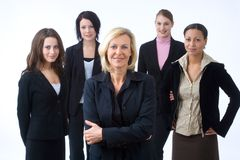 Businessgroup. Business woman is presenting her successful business team Stock Images