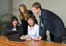 Businessgroup with laptop Royalty Free Stock Photography