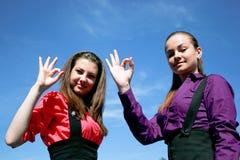 businessladies εντάξει δύο νεολαίες wo στοκ φωτογραφία