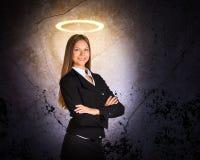 Businesslady με Nimbus στοκ φωτογραφία με δικαίωμα ελεύθερης χρήσης