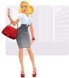 Businesslady atractivo stock de ilustración
