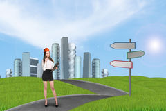 Businesslady in a city Royalty Free Stock Photos