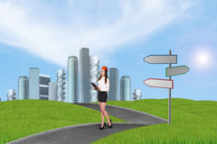 Businesslady in a city Stock Photos