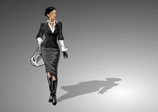 Businesslady con la borsa royalty illustrazione gratis