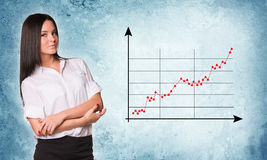 Businesslady with crossed arms Royalty Free Stock Photo