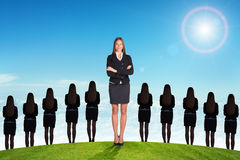 Businesslady with crossed arms Stock Photography
