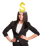Businesslady with dollar sign Royalty Free Stock Photo