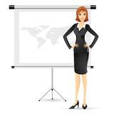 Businesslady giving Presentation Royalty Free Stock Photos