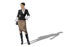 businesslady handväska stock illustrationer