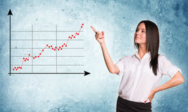 Businesslady pointing at graph Stock Photography