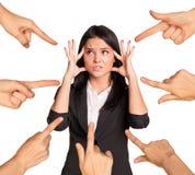 Businesslady pokazuje emocje Fotografia Stock