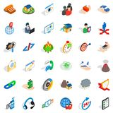 Businesslike approach icons set, isometric style. Businesslike approach icons set. Isometric set of 36 businesslike approach vector icons for web isolated on Stock Photography