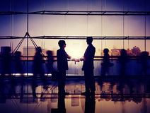 Businessm People Handshake Corporate Greeting Communication Conc Royalty Free Stock Images