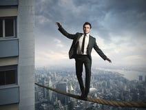Businessma de Equilibrist imagen de archivo libre de regalías