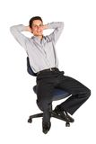 Businessman #101. Businessman relaxing on an office chair Stock Photo