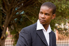 Businessman. Business man fron Africa dressed in suit stock photography