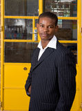 Businessman. Business man fron Africa dressed in suit royalty free stock photos