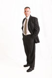Businessman. Young businessman isolated over white Stock Photo